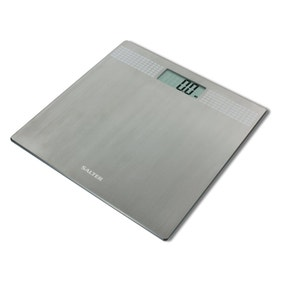 Salter Ultra-Slim Silver Electronic Bathroom Scale