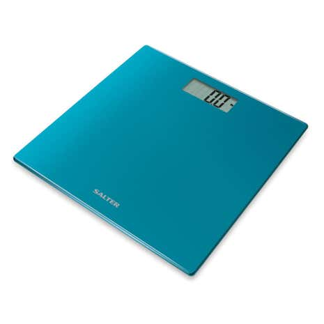 Salter Teal Glass Bathroom Scale