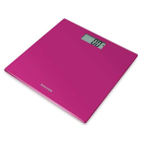 Salter Pink Glass Bathroom Scale
