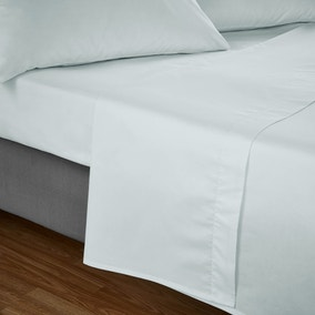 Fogarty Soft Touch Duck Egg Blue Flat Sheet