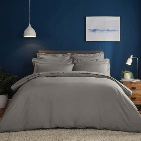 Fogarty Soft Touch Slate Duvet Cover and Pillowcase Set