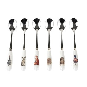 Royal Worcester Wrendale Set of 6 Tea Spoons
