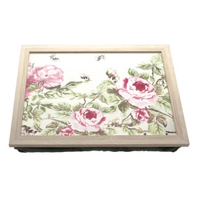 Vintage Floral Lap Tray Cotton Bag