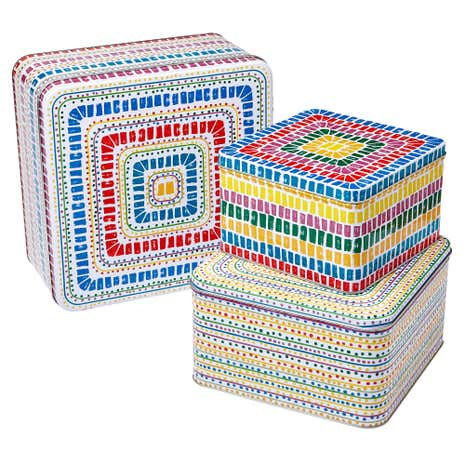 Seville Set of 3 Square Tins