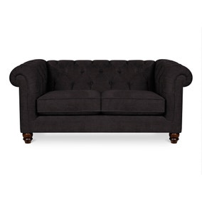 Belgravia Button Back 2 Seater Faux Leather Sofa