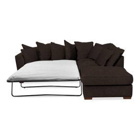 Grosvenor Scatter Back Right Hand Faux Leather Corner Sofa Bed
