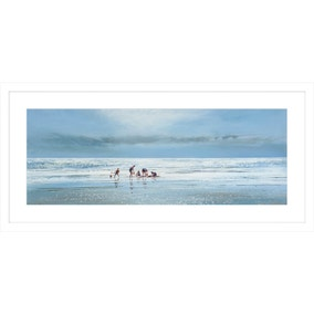 Busy Day at the Beach Framed Print