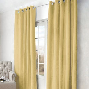 Arizona Ochre Blackout Eyelet Curtains