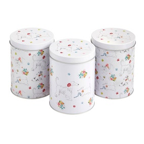 Dapper Dogs Pack of 3 Tin Canisters