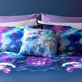 Lipsy 100% Cotton Mirrored Orchid Cushion
