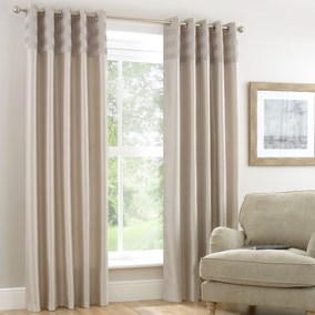 Atlanta Ivory Lined Eyelet Curtains