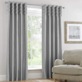 Atlanta Silver Lined Eyelet Curtains