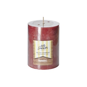 Black Cherries Flat Top Pillar Candle