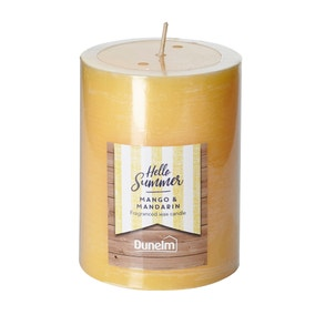 Mango Mandarin Flat Top Pillar Candle