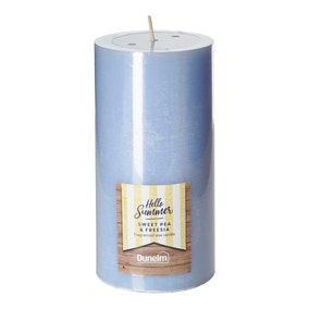 Sweet Pea and Freesia Large Pillar Candle