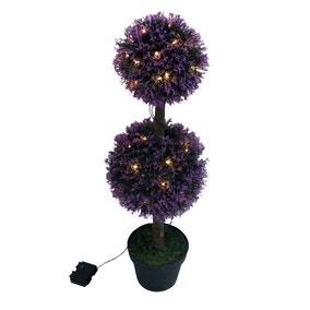 LED Lavender Topiary Tree