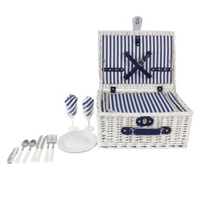 Two Person White Picnic Hamper