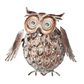 Galvanised Metal Owl Wobbler