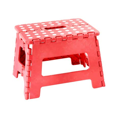 Small Red Step Stool Dunelm