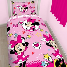 Disney Minnie Mouse Duvet Cover and Pillowcase Set