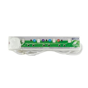 Status White 4-way 2 Metre Extension Socket