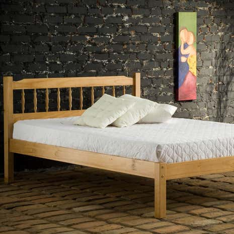 Santos Antique Pine Bedstead