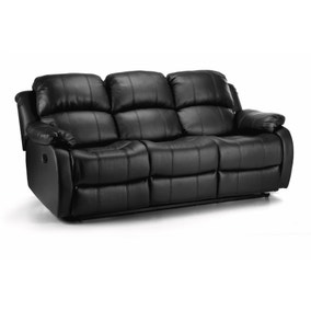 Anton Bonded Leather Reclining 3 Seater Sofa