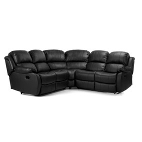 Anton Leather Reclining Corner Sofa