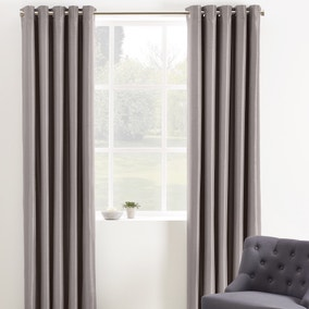 Phoenix Mink Blackout Eyelet Curtains
