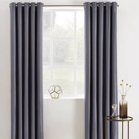 Phoenix Grey Blackout Eyelet Curtains