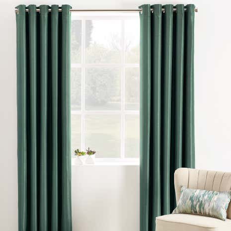 Phoenix Emerald Blackout Eyelet Curtains