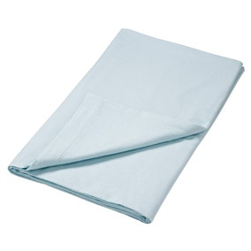 Brushed Cotton Cloud Blue Flat Sheet