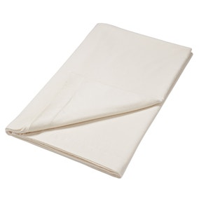 Brushed Cotton Cream Flat Sheet