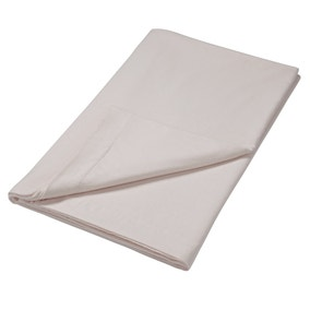 Brushed Cotton Silver Flat Sheet