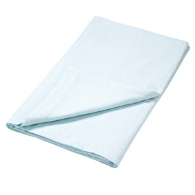 Luxury Brushed Cotton Pale Blue Flat Sheet
