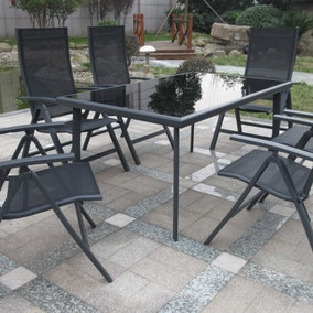 Sorrento Black 6 Seat Dining Set