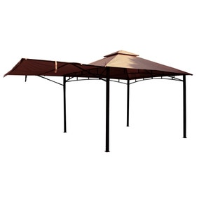 Square Gazebo with Awning