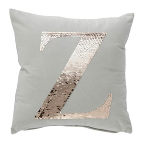 Sequin Alphabet Letter Z Cushion
