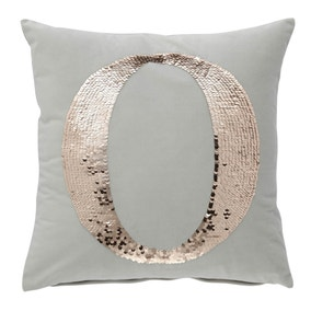 Sequin Alphabet Letter O Cushion