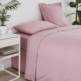 Non Iron Plain Dye Heather Flat Sheet