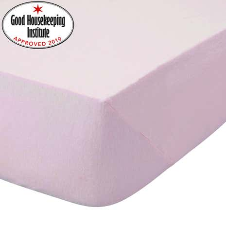Kids Non Iron Plain Dye Pale Pink Fitted Sheet