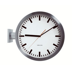 Double Sided Station Wall Clock
