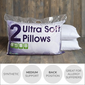 Ultra Soft Medium Support Pillow Pair