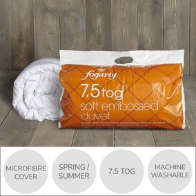 Fogarty Soft Embossed 7.5 tog Duvet