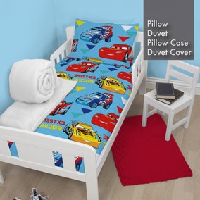 Disney Cars Duvet, Pillow, Duvet Cover and Pillowcase Bundle