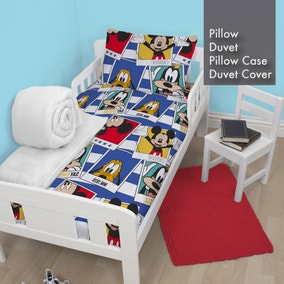 Disney Mickey Mouse Duvet, Pillow, Duvet Cover and Pillowcase Bundle