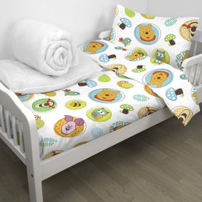 Disney Winnie the Pooh Forest Duvet, Pillow, Duvet Cover and Pilliowcase Bundle