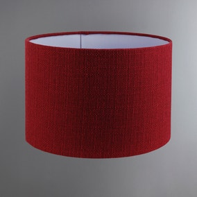 Brixham Claret Drum Shade