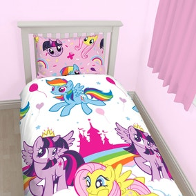 My Little Pony Single Duvet Cover and Pillowcase Set