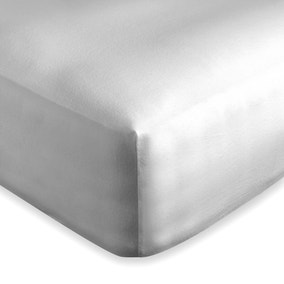 Dorma Supreme Brushed Cotton Grey Fitted Sheet